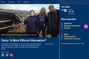 BBC Radio 4: Dairy: A More Ethical Alternative?
