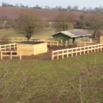 Shelters and fences going up